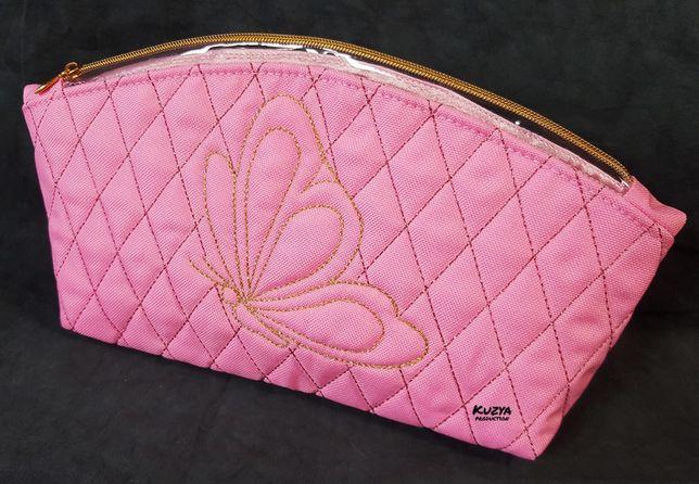 Косметичка ручной работы Бабочка розовая