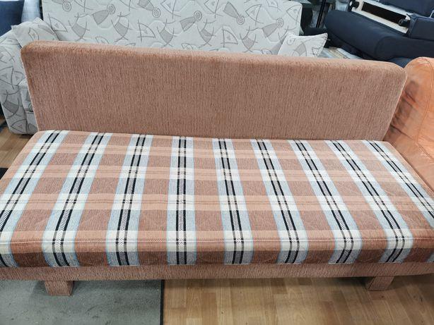 Ładna sofa łóżko rozkładane ze skrzynią spanie 155x200cm stan jak nowa
