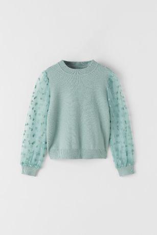 Nowy sweter Zara 116 Mayoral 122
