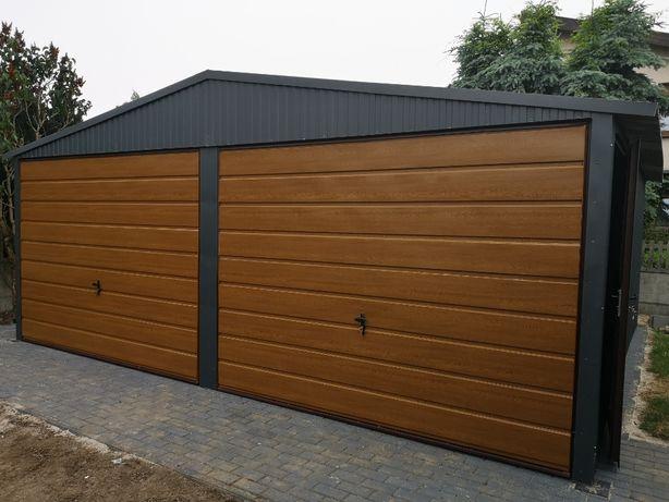 Wszystkie wymiary garaże blaszane 5x6,6x6,6x5 WZMACNIANE producent