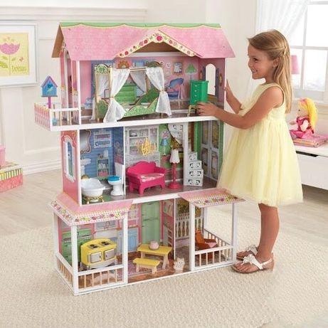 Кукольный деревянный домик,игрушечный дом для кукол