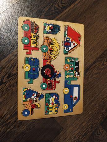 Gospodarstwo, farma, puzzle drewniane