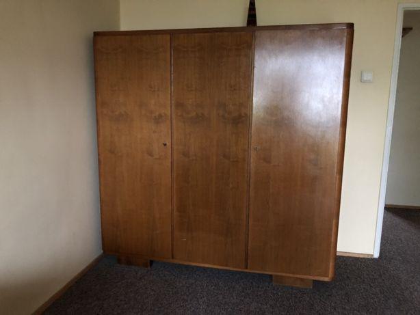 Orzechowa drewniana szafa lite drewno super stan 1964r 180x180x58