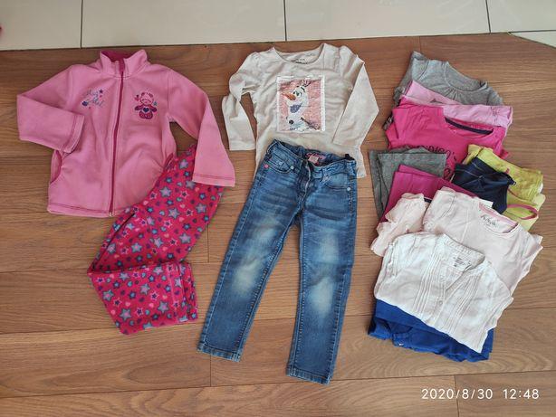 110 zestaw ubrań ubrania dziewczynka mega paka