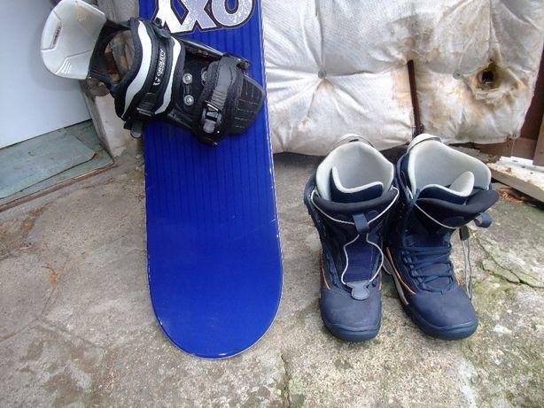 Kije narciarskie,bieg.2pary,Steper prosty,toczek,snowboard Oxygen+buty