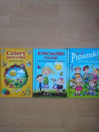 3 książki dla przedszkolaka, wierszyki, piosenki