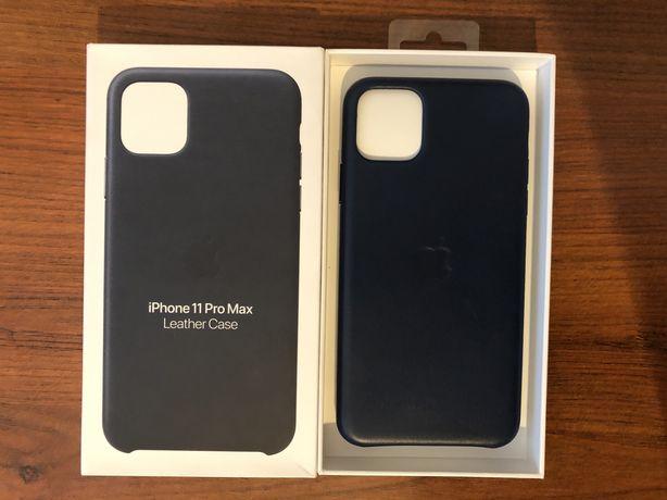 iPhone 11 Pro Max Leather Case Midnight Blue - ORYGINALNE ETUI