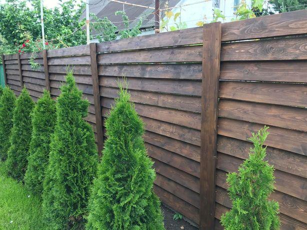 Забор деревянный ,,жалюзи,,