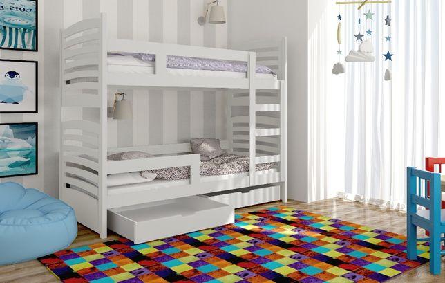 Nowe piętrowe łóżko Olek! Drewno sosnowe! Materace gratis