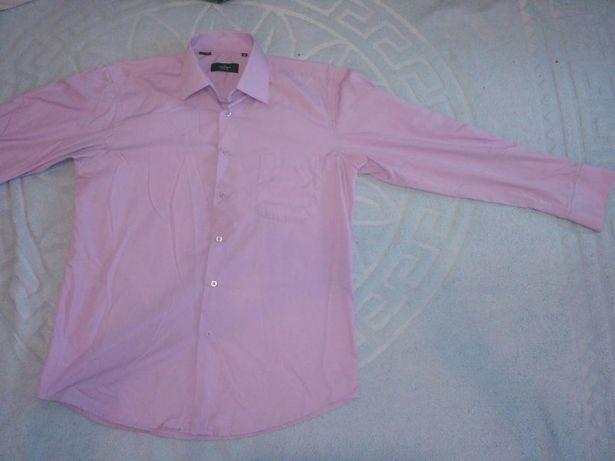 рубашка лилового цвета