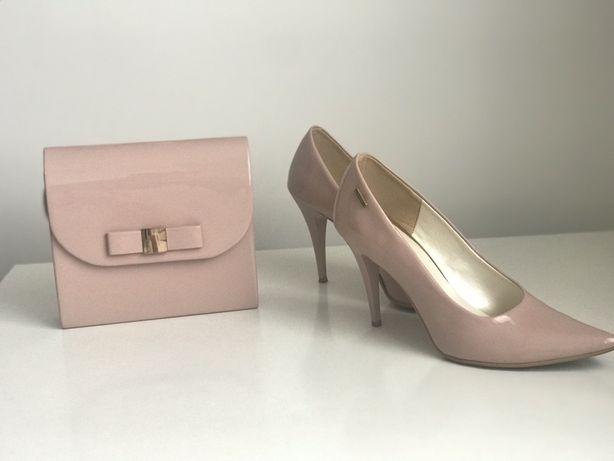 Buty i torebka - komplet w kolorze nude rose