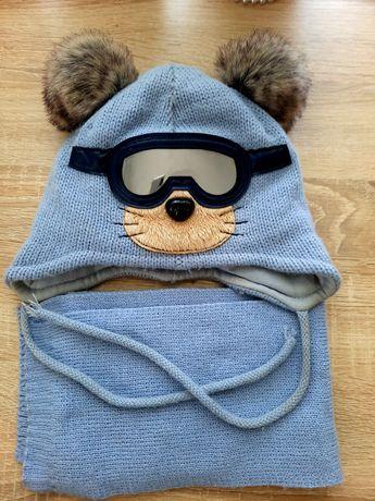 Набор шапка с шарфиком,для мальчика