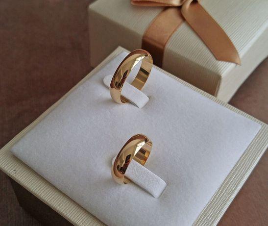 WYJĄTKOWA ELEGANCJA! Para Złotych Obrączek Ślubnych