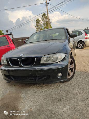 Peças BMW 118d e81, motor 204d4, frente completa, airbags, caixa, port