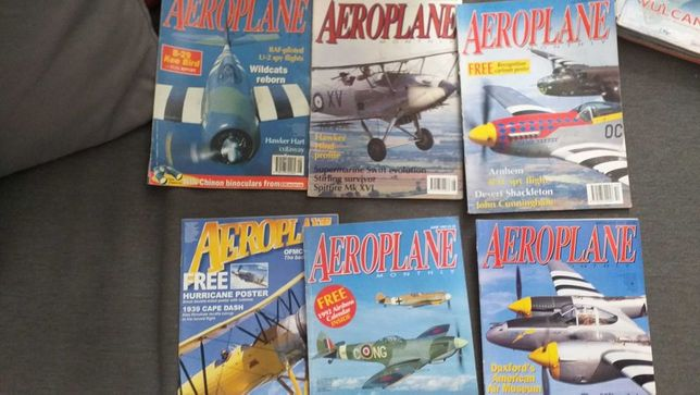 6 Revistas Aeroplane em boa condição,aviões, Spitfire, posters etc