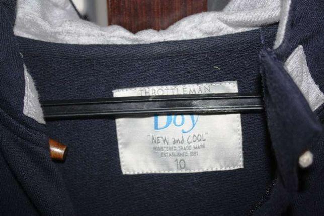 Casaco desportivo azul escuro original da THROTTLEMAN BOY 10 anos