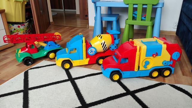 Śmieciarka, betoniarka, wóz strażacki (zabawki) WADER