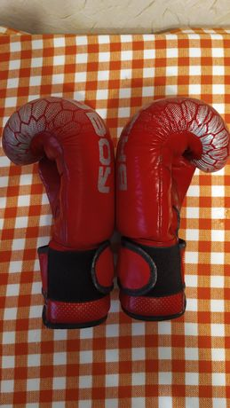 Перчатки бокс кожа. Bad boy