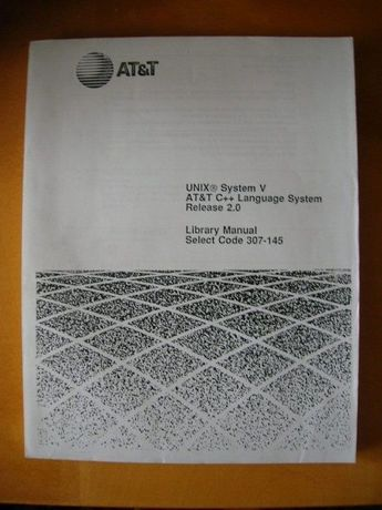 UNIX System V AT&T C++ Language System
