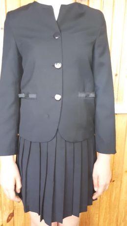Школьный пиджак и юбка для девочки