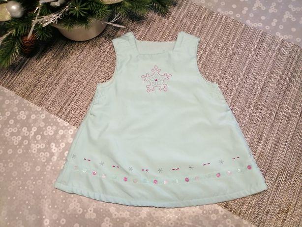 Sukienka błękitna r 62 68 Kraina Ludu