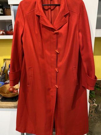 Płaszcz damski , czerwony rozmiar 40, L, 100% wełna owcza
