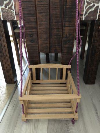Новая подвесная качель деревянная гойдалка