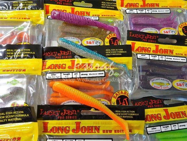 Lucky John Long John Pro smakowa i zapachowa przynęta, guma -spinning