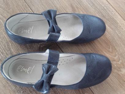 buty skórzane skóra EMEL 33 czółenka lakierki