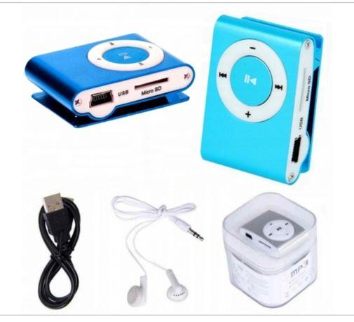 Odtwarzacz mp3 sd klips usb + kabel + słuchawki