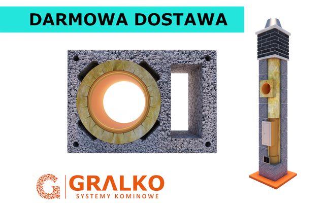 Komin 8m dymny+wentylacja System Kominowy Ceramiczny z dyfuzorem !
