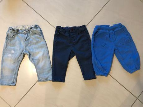 Spodnie x3: Reserved +H&M + 5-10-15 rozm. 74
