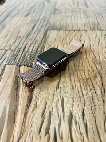 Apple Watch 5 44MM Stal Stalowy Złoty LTE Cellular