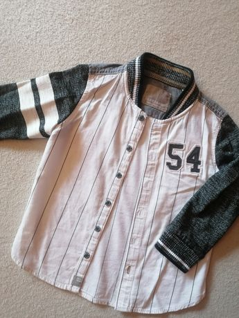 Elegancka koszula dla chłopca NEXT BRAND biała długi rękaw r. 92