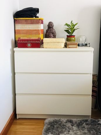 Comoda branca MALM IKEA