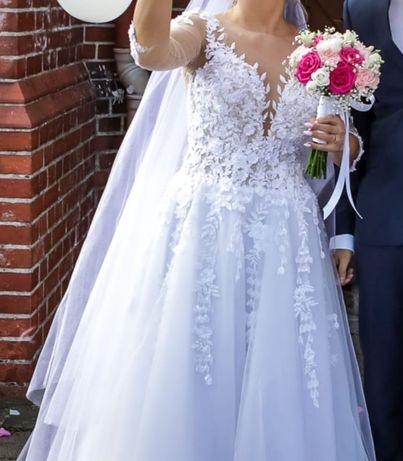 Piękna suknia ślubna V17 rozmiar S/36/160cm
