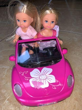 simba autko rozowe barbie dwie lalki