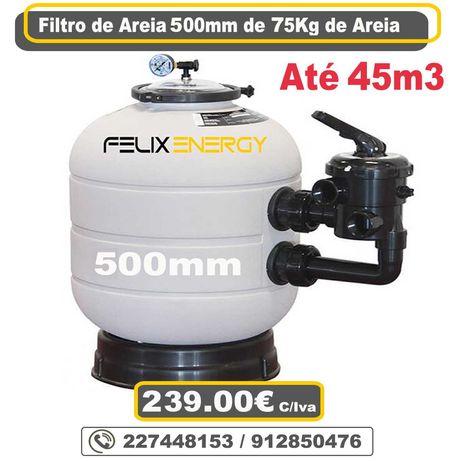 Filtro Piscina até 45.000Litros 500mm de 75kg de areia