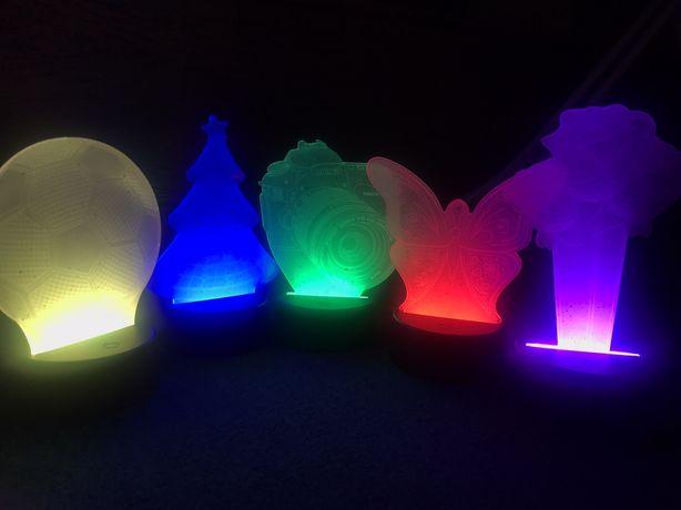 Светильник ночник с 3D эффектом Desk lamp
