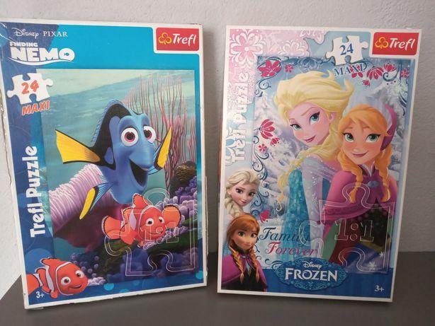 Puzzle MAXI Frozen Anna Elsa Nemo