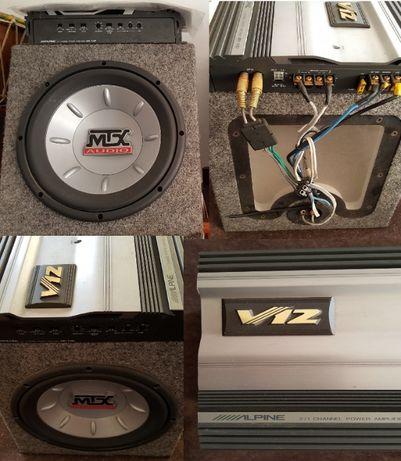 Megafone, Subwoofer, Amplificador, Colunas, Rádio -Alpine, Magnat, JBL