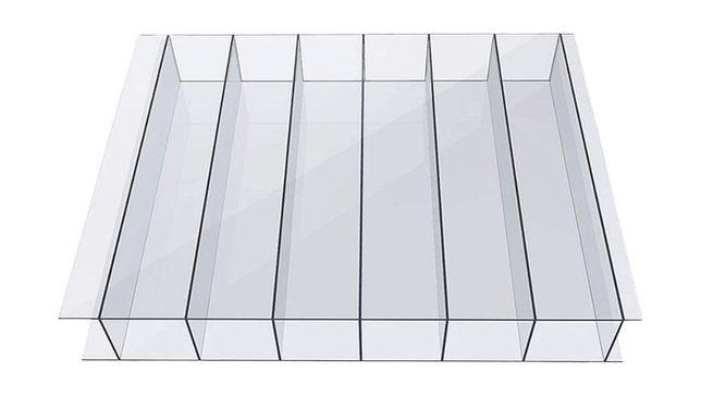 Poliwęglan komorowy bezbarwny 4 mm, UV, 1m2