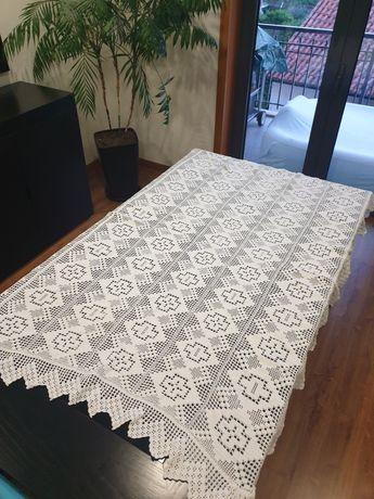 Toalha de mesa croché renda algodão 1.70m x 1.20m