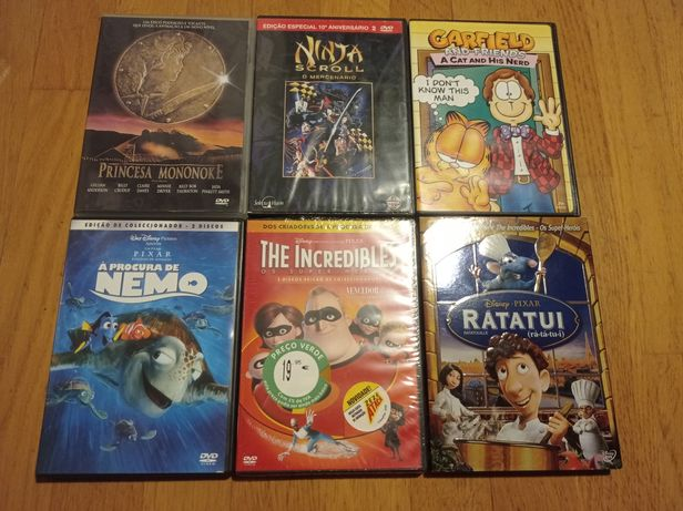 Princesa Mononoke Nemo Incríveis Ratatui