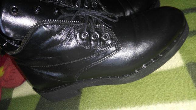 Шкіряні нові чоботи,напівчобітки весна осінь чобітки шкіра