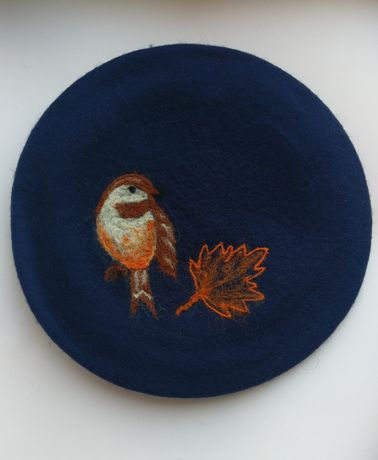 Берет беретик шапка шерсть
