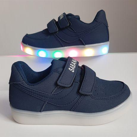Sportowe buty świecące LED 28