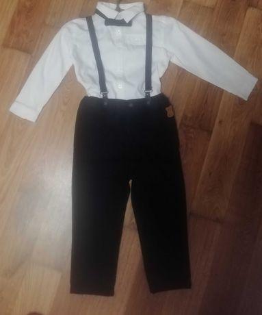 Праздничный комплект для мальчика,рубашка, штаны, подтяжки, бабочка