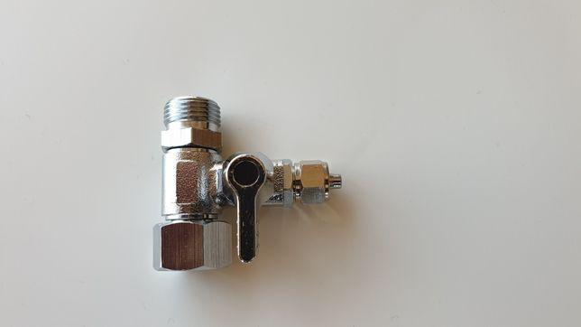 Zawór trójnik 3/8 × 3/8 x 1/4 do podłączenia zestawu filtracji wody
