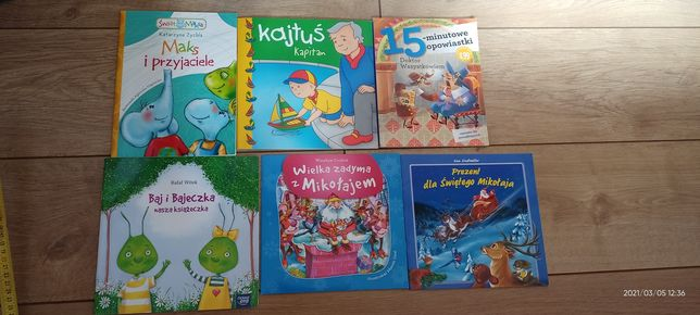 Książeczki 6 sztuk